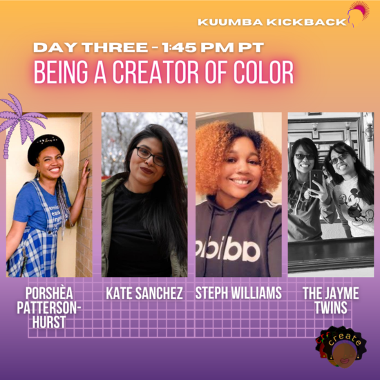 Day Three - Being a Creator of Color